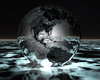 3D night globe Stock Images