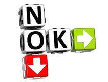 3D No Ok Crossword Royalty Free Stock Image