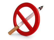 3D 'No Smoking' sign Royalty Free Stock Photos