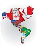 3d Noorden en Amerikaans continent Sout Royalty-vrije Stock Foto's