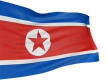 3D North-Korean flag Stock Image