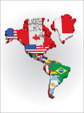 3d North and Sout American continent Royalty Free Stock Photos