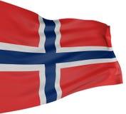 3D Norwegian flag Stock Images