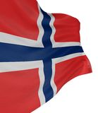 3D Norwegian flag Royalty Free Stock Photography