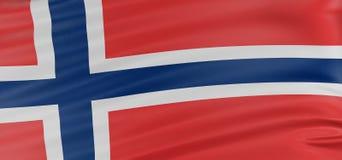 3D Norwegian flag Royalty Free Stock Photo