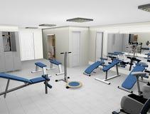 3d nowożytny sprawność fizyczna pokój Zdjęcia Royalty Free