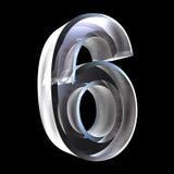 3d numéro 6 en glace Photos stock