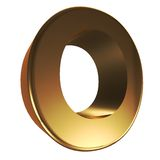3d number 0. 3D Number zero in Gold Stock Images