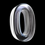 3d number 0 in glass Stock Photography