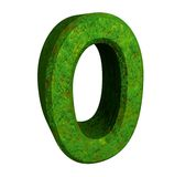 3d number 0 green Stock Images