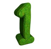 3d number 1 green Stock Photography