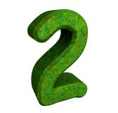 3d number 2 green. 3d made number 2 green Stock Photo