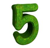 3d number 5 green Stock Photography