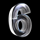 3d number 6 in glass Stock Photos