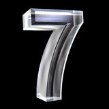 3d number 7 in glass Stock Photography