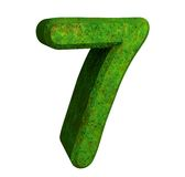 3d number 7 green Stock Images