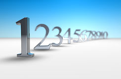 3d number countdown Royalty Free Stock Photos
