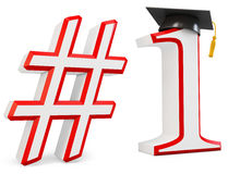 3d number one education concept Royalty Free Stock Images