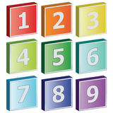 3D number sign icons Stock Photo
