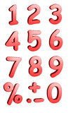 3d Numbers. 3d rendered numbers and symbols isolated on a white background Stock Photos