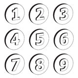 3D numbers Royalty Free Stock Image