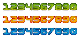 3d numbers in color effect Stock Images