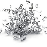 3d numbers exploded Stock Photos