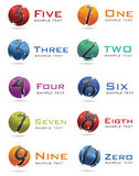 3D Numbers Logo Stock Images
