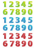 3D Numbers Set royalty free stock photo
