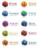 3D numera o logotipo Imagens de Stock
