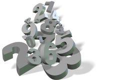 3d nummeriert Hintergrund Stockfoto