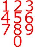 3d numrerar red Arkivfoto