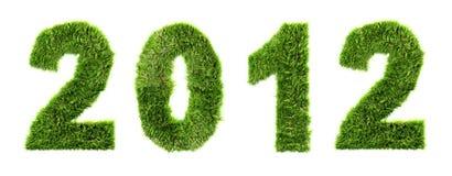 3d nuovo anno 2012 - concetto di ecologia illustrazione di stock