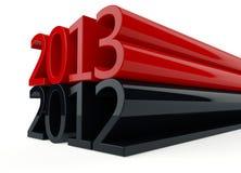 3D nuovo anno 2013 Fotografie Stock Libere da Diritti