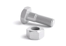 3d,nut and bolt,three-dimensional granting. Nut and bolt,three-dimensional granting Stock Photo