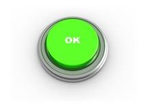 3d o.k. buton vector illustratie