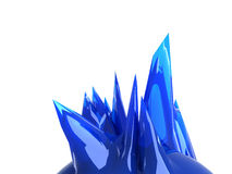 3d object background. 3D futuristic form/shape. Sharp edges, blue abstraction. Wonderful for new technology illustrations, for modern business design Royalty Free Stock Images