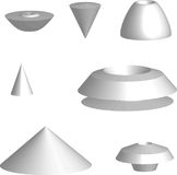 3D objects Stock Photo