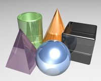 3d objects Royalty Free Stock Images