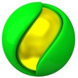 3d objeto abstracto - esfera acodada Imágenes de archivo libres de regalías