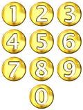 3d obramiał złote liczby royalty ilustracja