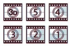 3d odliczanie film Fotografia Stock
