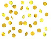 3d odpłacać się pogarszający się złote monety Zdjęcia Royalty Free