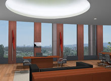 3D office Royalty Free Stock Photos