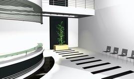 3D Office Interior Stock Photo