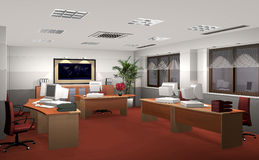3D office rendering Stock Image