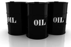 3d oil barrel on white background. 3d oil barrel on white background royalty free illustration