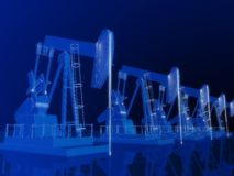 3d oilpumps Royalty Free Stock Image