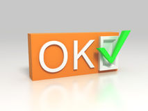3d OK sign Stock Photo