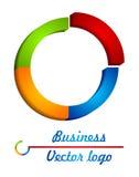 3d okręgu logo barwiony przyrodni royalty ilustracja